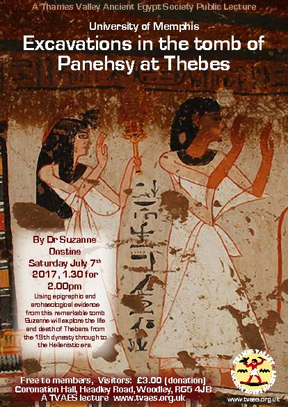 University of Memphis excavations in the tomb of Panehsy at Thebes